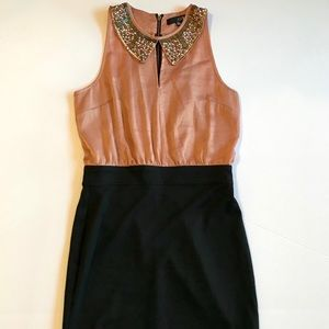 Party Dress with Beaded Collar Fitted Pencil Skirt